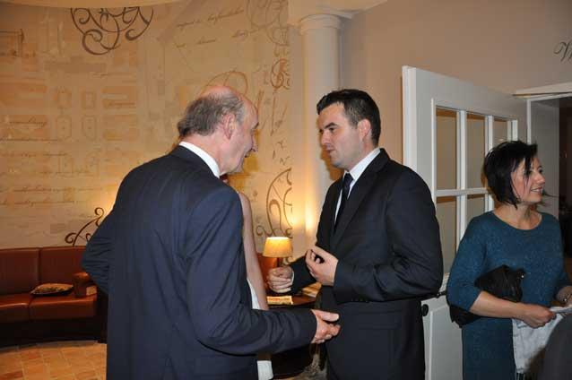 Na zdjęciu r.pr. Paweł Majewski z prezesem Izby Saksońskiej Dr. Detlef Haselbach